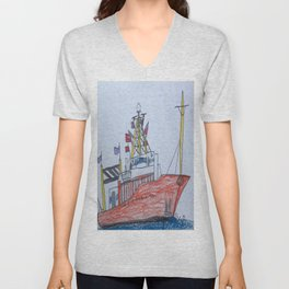 Ship Ahoy! Unisex V-Neck