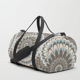 Floral Mediterranean Mandala Tile Pattern Duffle Bag