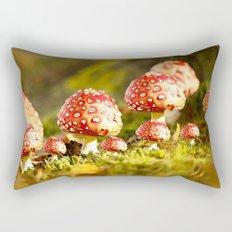 Beautiful but toxic - Fly agaric - Amanita - Autumn illustration - #society6 #buyart Rectangular Pillow