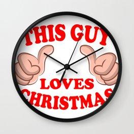 Funny Men Christmas Sayings Wall Clock