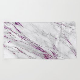 Gray and Ultra Violet Marble Agate Beach Towel