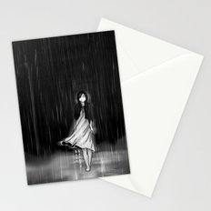 ... as the rain fell on me Stationery Cards