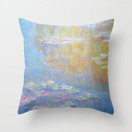 Monet water lilies 1908 Throw Pillow