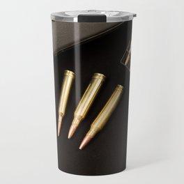 Rifle and 7mm Bullets Travel Mug