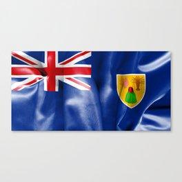 Turks and Caicos Islands Flag Canvas Print