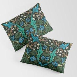 William Morris Tulips, Blue Columbine, Orchids, & Sunflowers Textile Flower Print Pillow Sham