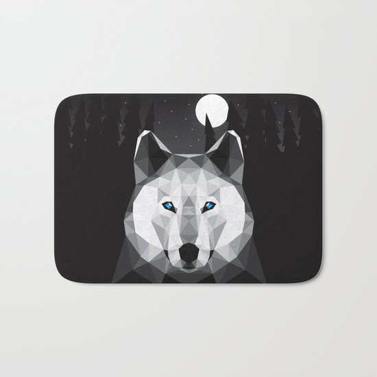 The Tundra Wolf Bath Mat