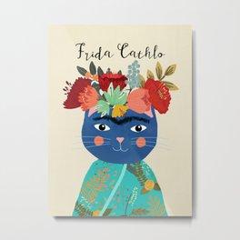 Frida Cathlo Metal Print
