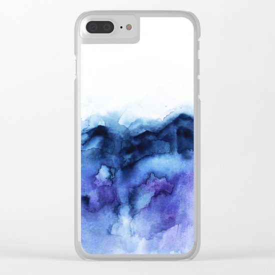 Abstract Indigo Purple Mountians Clear iPhone Case