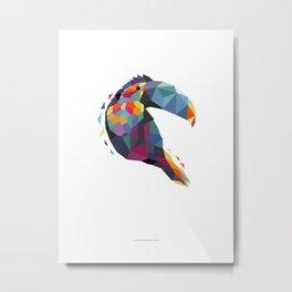 Tucan Geometric Color Metal Print