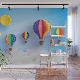 Balloon Festival 3D Paper Art Wall Mural