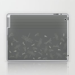 Dragonfly Pattern on Warm Grey Laptop & iPad Skin