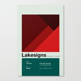 Lakesigns Poster - SXSW 2012 (4 of 4) Canvas Print