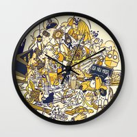 movies Wall Clocks featuring Movies Explosion by zaMp