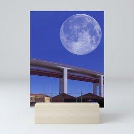 Lisbon - Santo Amaro - 25 de Abril Bridge - Concrete Section. Mini Art Print