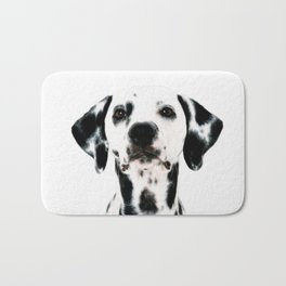 Dalmatian dog watercolour Bath Mat