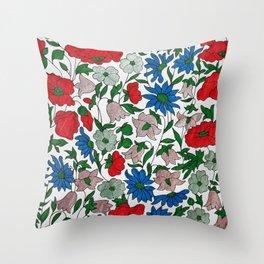 Poppy and Daisy Throw Pillow