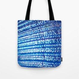 Ocean Fanatasy Blue Seashell Texture Tote Bag