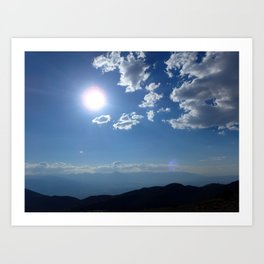 California into Nevada view Art Print