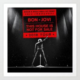 bon jovi this house is not for sale 2018 tour Art Print