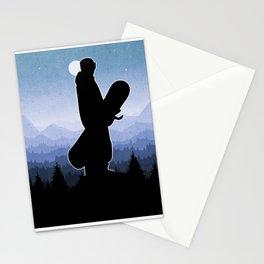 Snowboard Skyline Stand Stationery Cards