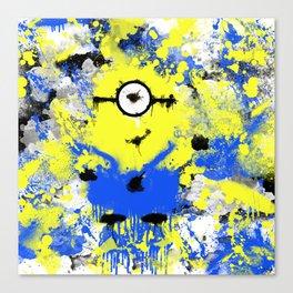 Splatter Painted Minion  Canvas Print