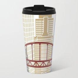 Pittsburgh V2 skyline poster Travel Mug
