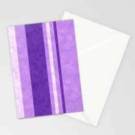 Retro Vintage Lilac Grunge Stripes Stationery Cards