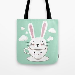 Take a Cup of Bunny Tote Bag