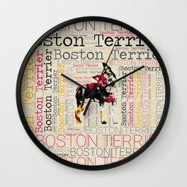Adorable Boston Terrier Wall Clock