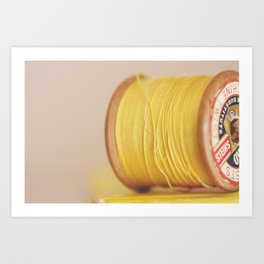 y is for yellow Art Print