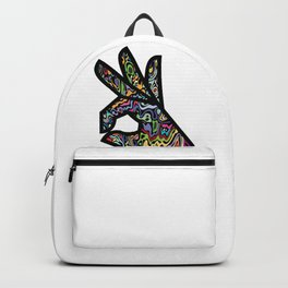 Psychedelic Okay Hand Sign Backpack