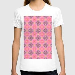 pink tropical lounge pattern T-shirt