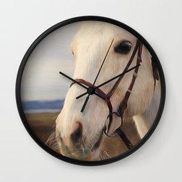 Horse Art - Beauty Is A Light Wall Clock