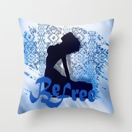 crystalice Throw Pillow