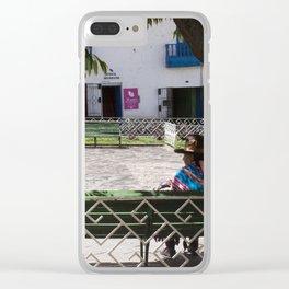 Peruvian Lady Clear iPhone Case