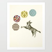 games Art Prints featuring Ball Games by Cassia Beck
