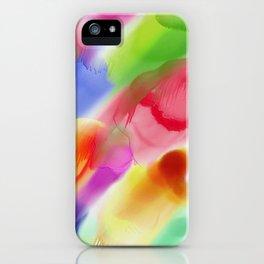 Watercolor Ink Blots iPhone Case