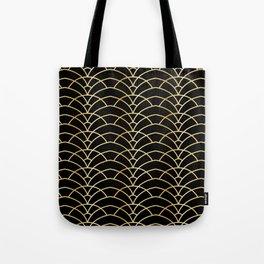 Art Deco Series - Black & Gold Tote Bag