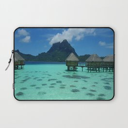 Bora Bora Bungalow Laptop Sleeve