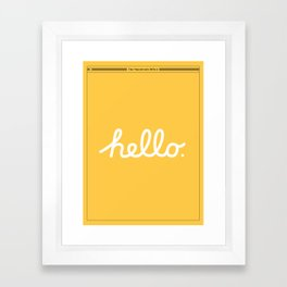 Hello: The Macintosh Office (Yellow) Framed Art Print