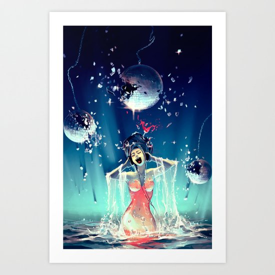 Voice of Crystal Art Print
