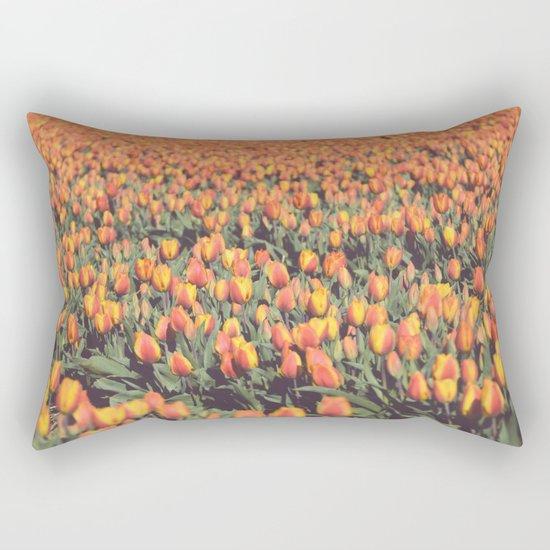 Tulips field #1 Rectangular Pillow
