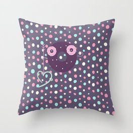 seeking for love*** happy D Throw Pillow