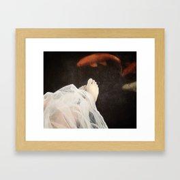 koi and tulle Framed Art Print