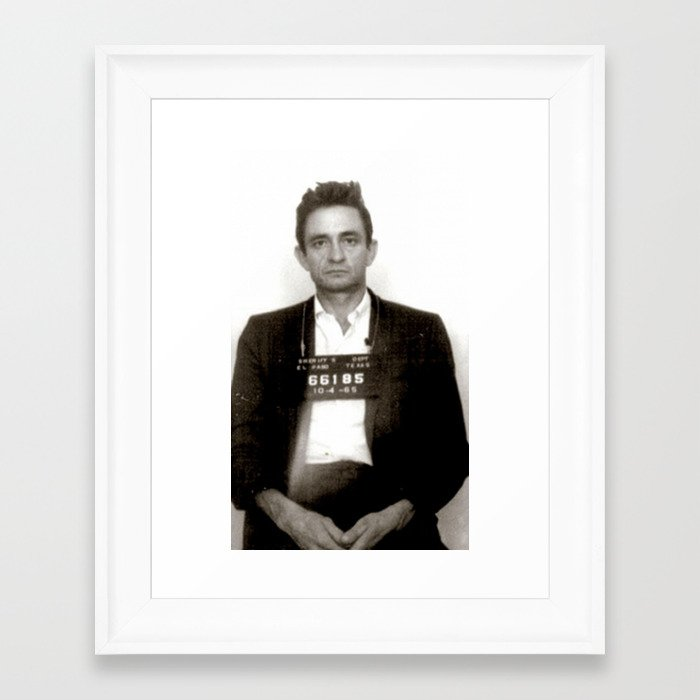 Nice Johnny Cash Framed Picture Image Collection - Frames Ideas ...