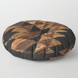Urban Tribal Pattern 11 - Aztec - Wood Floor Pillow