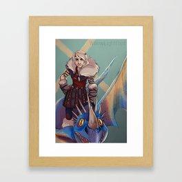 Astrid and Stormfly Framed Art Print