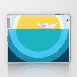 Paper boat in the sea Laptop & iPad Skin