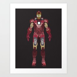 Iron Man Iron Man Art Print